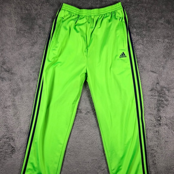 Adidas Vintage Tear Away Track Pants Neon Green